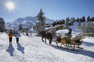 station de ski sans voitures